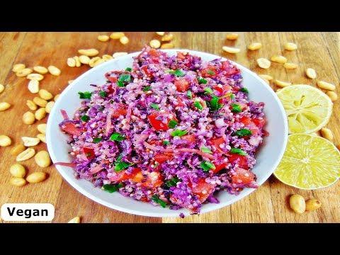 Rezept: Quinoa Salat mit Erdnuss-Dressing / Vegan / gesund und super lecker / Best Quinoa Salad