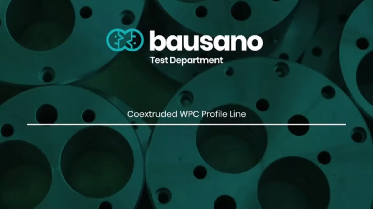 Extrusion line for WPC co-extruded profiles | Bausano