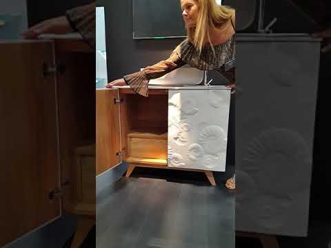 Bianchini & Capponi: Mobile bagno con ammoniti Art. 2610 - Mobili bagno made in Italy