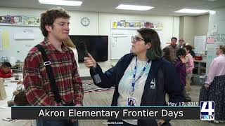 Frontier Days - Akron Elementary Visits Prill School - 5-17-19