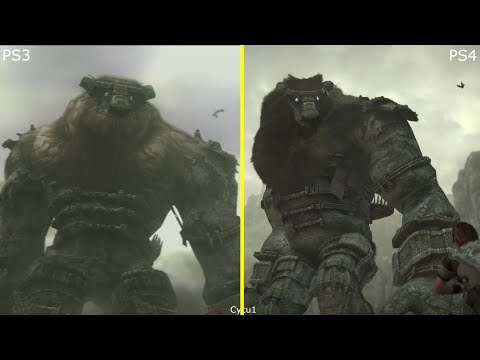 Shadow of the Colossus PS3 vs PS4 Pro Graphics Comparison