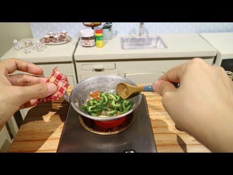 Pinoy Food Ginisang Amplaya (ASMR Miniature Cooking)