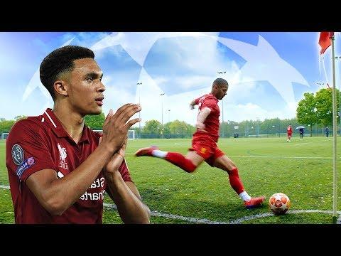 TRENT ALEXANDER-ARNOLD SNEAKY CORNER IN REAL LIFE! 😂   Liverpool 4-0 Barcelona