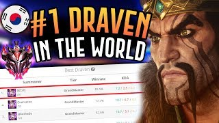 THE NUMBER ONE DRAVEN IN THE WORLD IS AMAZING! - Korean Grandmaster ADC - League of Legends