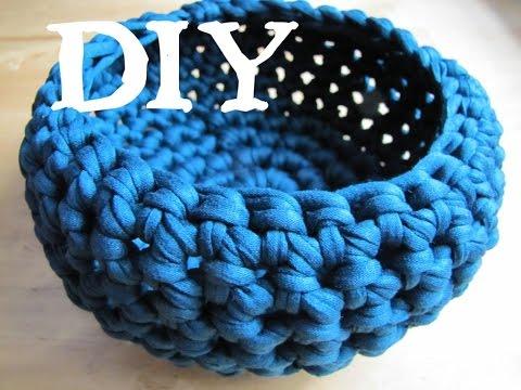Utensilo / Körbchen häkeln DIY mit Textilgarn (auch für Anfänger!)