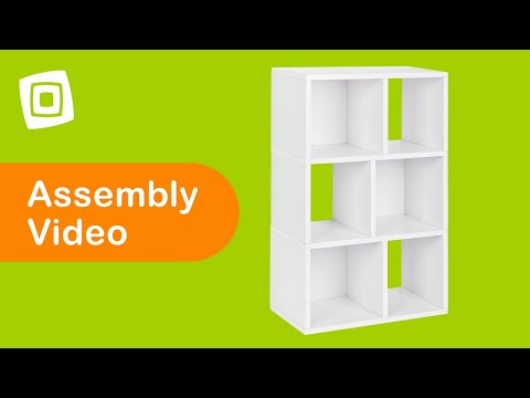 Video for Eco-Friendly Laguna Three Shelf Bookcase, White