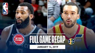 Full Game Recap: Pistons vs Jazz | Rudy Gobert Grabs A Career-High 25 Rebounds