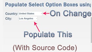 Populate Select Option Boxes using jQuery