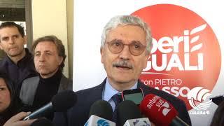 Liberi e Uguali presenta i suoi candidanti in Puglia. Tra di loro, Massimo D'Alema