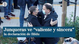 """Junqueras califica de """"valiente y sincera"""" la declaración de Bildu"""