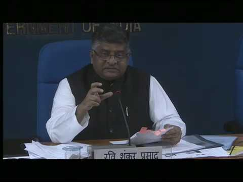 Cabinet briefing by Union Minister Ravi Shankar Prasad