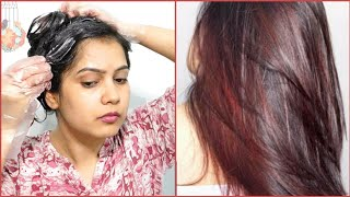 How To Colour Hair Burgundy Or Maroon At Home 100% Work | Black To Burgundy Hair Colour |