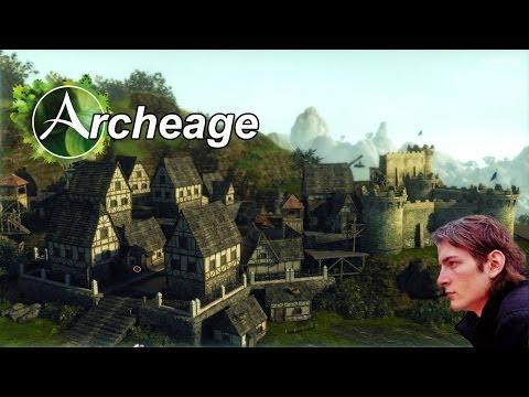Archeage #68 — ставлю дом с соломенной крышей в Арчейдж — дровосекам, лесорубам, кольщикам дров))