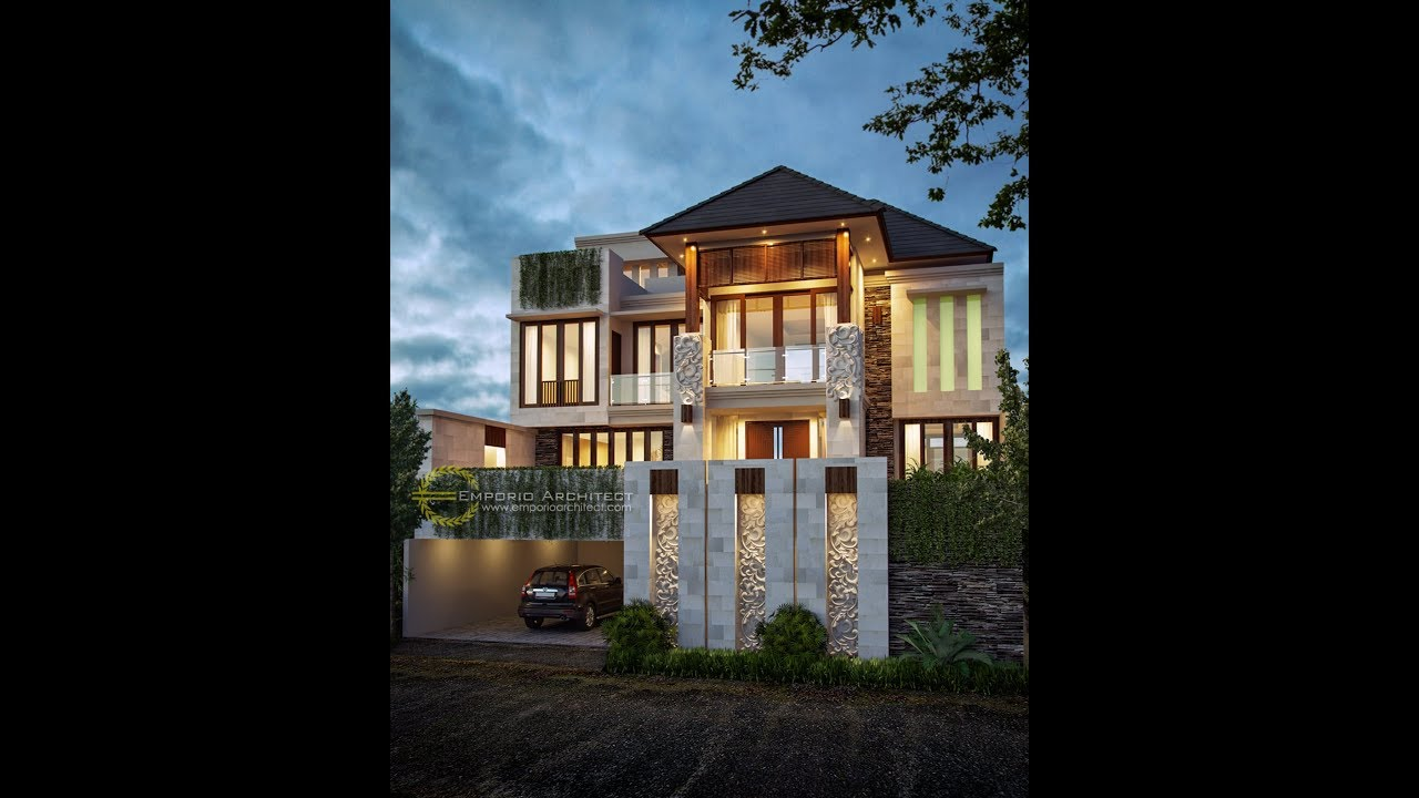 Video 3D Mr. Irvan Villa Bali House 3 Floors Design - Bintaro, Tangerang