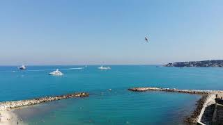 Flying above Antibes