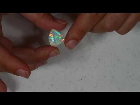 Faceted Welo Opal Shield Shape 8.27 Carats