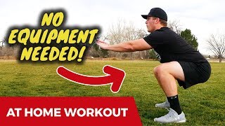 BEST At Home Baseball Workout | No Equipment Needed!!