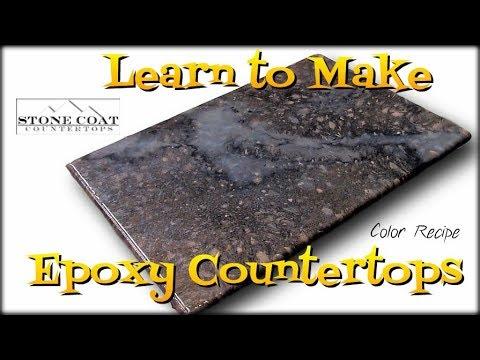 Learn To Make Epoxy Countertops, Color Recipe