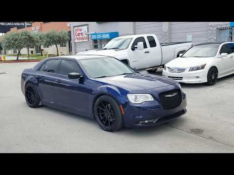 "20"" Ferrada FR-4 Black Wheels Chrysler 300 AWD Deep Concave Rims Lowered"