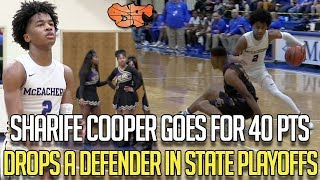 SHARIFE COOPER GOES FOR 40PTS & DROPS DEFENDER IN STATE PLAYOFFS