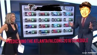 Predicting The Atlanta Falcons Schedule 2018