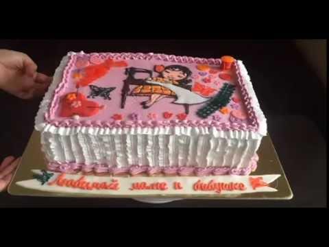 Идея торта для рукодельницы