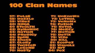 100 Clan Name Ideas