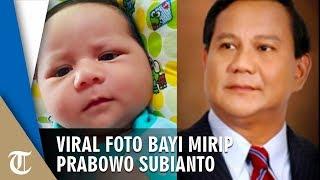 Viral di Medsos Foto Bayi Mirip Capres Nomor Urut 02 Prabowo Subianto