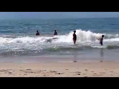 Curtindo a praia de Barra Velha em Santa Catarina 2018