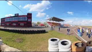 Тест-драйв Тесла в Красноярске - Камера на треке (4K 360)