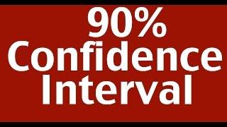 90% Confidence Interval