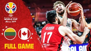 Lithuania show Canada what they're made of! - Full Game - FIBA Basketball World Cup 2019