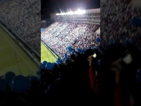 """""""Recibimiento NACIONAL vs San lorenzo - GPC 🔵⚪🔴"""" Barra: La Banda del Parque • Club: Nacional"""