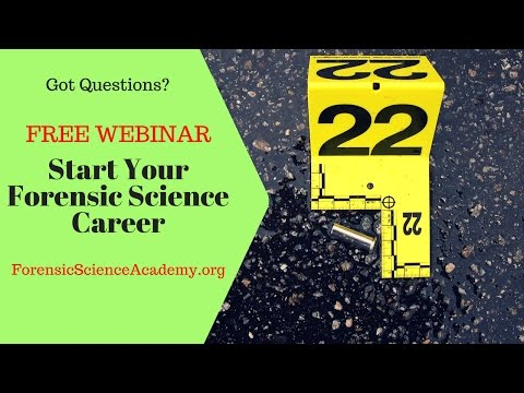 FREE WEBINAR Forensic Science Academy: Forensic Courses ...