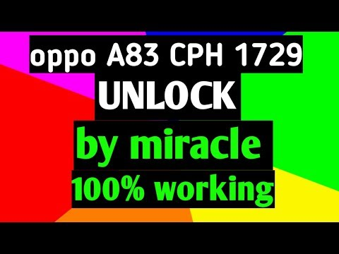 Oppo A83/F5/F5Youth/F7/F9/F9Pro Pattern ,Pin Remove With