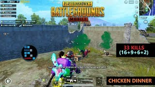 "[Hindi] PUBG MOBILE | ""33 KILLS"" WITH AMAZING SQUAD & CHICKEN DINNER"