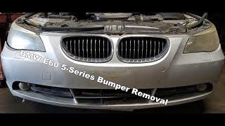 Front Bumper Cover Removal 2004-07 BMW e60 550i 545i 530i 525i