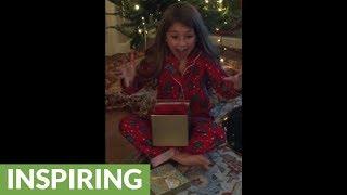 Little Girl Utterly Surprised By Hamster For Christmas