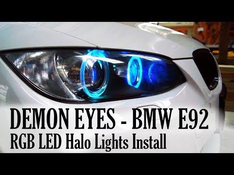 335i BavGruppe Halo/Demon Eye Install! - смотреть онлайн на