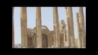 preview picture of video 'Jordan. Temple of Artemis, Jerash - one of the Roman temples that remain intact in situ'