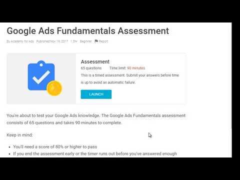 100% Pass Google Ads - Adwords Fundamental Certification Exam ...