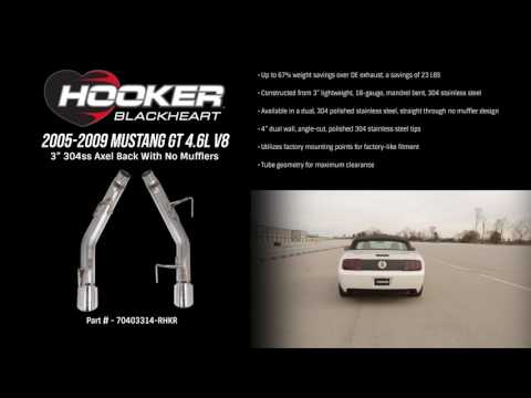2005-2009 Mustang GT 4.6L V8 Axel-Back W/O Mufflers