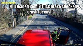 Semi-Trucks and Cars Brake Checked - NO REASON, INSURANCE SCAM or ROAD RAGE ?  |  2019 #2
