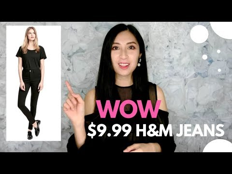 WOW $9.99 H&M JEANS REVIEW & TRY-ON | Affordable jeans | Alexa Style Book