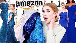 TRYING ON AMAZON PROM DRESSES !! ... Again