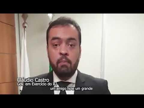 GOVERNADOR DO RIO DE JANEIRO PARABENIZA ANDRÉ MOURA