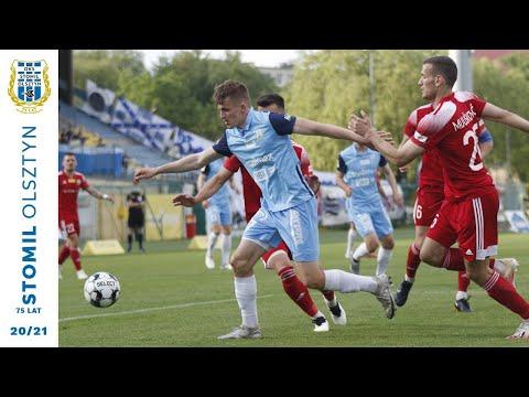 Skrót meczu Stomil Olsztyn - Miedź Legnica 1:1