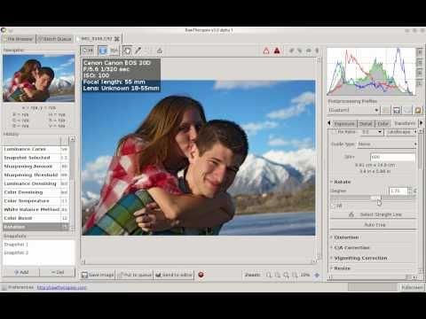 RAW Photo Editing Tutorial - RawTherapee In Linux - игровое