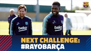 Recovery work with Messi and Umtiti