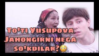 O'zbekiston Xalq Artisti To'ti Yusupova Jahongirni so'kib berdi! nega????😳😳😳😳